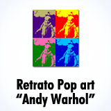 Crear 4 retratos Pop Art como 'Andy Warhol'